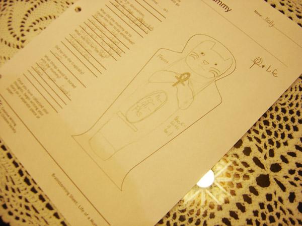 Mummy design.