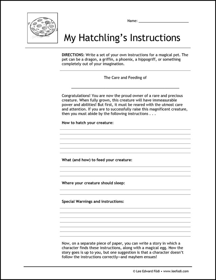 WS-My Hatchling's Care Instructions